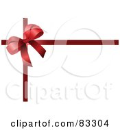 Royalty Free RF Clipart Illustration Of A Red Bow In The Corner Of Ribbons On White