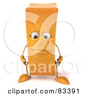 Royalty Free RF Clipart Illustration Of A 3d Frite French Fry Character Pouting
