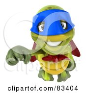 Royalty Free RF Clipart Illustration Of A 3d Chuck Tortoise Super Hero Flying Forward
