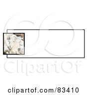 Royalty Free RF Clipart Illustration Of A Website Banner Of An Artistic Palomino Horse Head Over A White Text Box