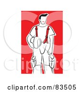 Royalty Free RF Clipart Illustration Of A Fireman In His Uniform