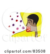 Royalty Free RF Clipart Illustration Of A Black Man Blowing Kisses