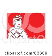 Royalty Free RF Clipart Illustration Of A Winter Man Wearing A Hat And Scarf