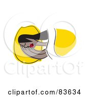 Royalty Free RF Clipart Illustration Of An Abstract Woman Sleeping In Bed
