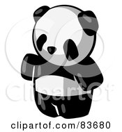 Royalty Free RF Clipart Illustration Of A Standing Animal Giant Panda Bear