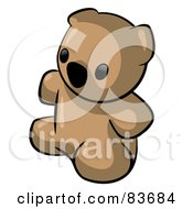 Royalty Free RF Clipart Illustration Of A Cute Sitting Brown Animal Factor Teddy Bear