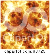 Royalty Free RF Clipart Illustration Of A Background Of A Hot Fiery Explosion by Arena Creative