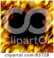Royalty Free RF Clip Art Illustration Of A Blurred Border Of Flames Around Black