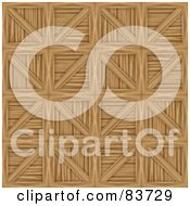 Royalty Free RF Clipart Illustration Of A Background Of Wooden Crates by Arena Creative