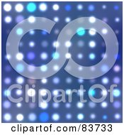 Royalty Free RF Clipart Illustration Of A Glowing Blue White And Purple Halftone Dot Background