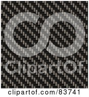 Royalty Free RF Clipart Illustration Of A Diagonal Weave Carbon Fiber Background by Arena Creative