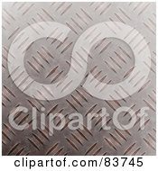 Royalty Free RF Clipart Illustration Of A Slightly Rusted Diamond Plate Metal Background by Arena Creative