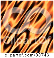Royalty Free RF Clipart Illustration Of A Blurred Orange And Black Flame Background by Arena Creative