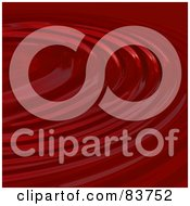 Royalty Free RF Clipart Illustration Of A Red Rippling Liquid Background by Arena Creative