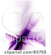 Royalty Free RF Clipart Illustration Of A Purple Abstract Floral Fractal Over White