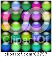 Royalty Free RF Clipart Illustration Of A Background Of Colorful Blurry Orbs On Black