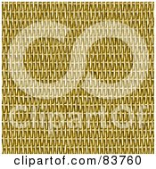 Royalty Free RF Clipart Illustration Of A Tight Background Of Tan Wicker Basket Weaving