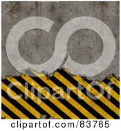 Royalty Free RF Clipart Illustration Of A Wall Crumbling And Revealing Hazard Stripes by Arena Creative