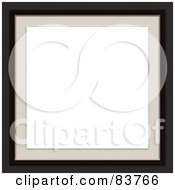 Royalty Free RF Clipart Illustration Of White Space Bordered With Tan And Black Edges