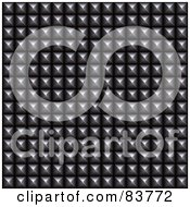 Royalty Free RF Clipart Illustration Of A Studded Steel Texture Background
