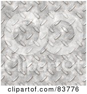 Royalty Free RF Clipart Illustration Of A Shiny Silver Diamond Plate Texture Background by Arena Creative