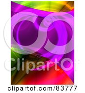 Royalty Free RF Clipart Illustration Of An Abstract Colorful Fractal Swirl