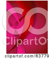 Royalty Free RF Clipart Illustration Of A Red And Pink Swoosh Background by Arena Creative