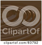 Royalty Free RF Clipart Illustration Of A Chocolate Ripple Background