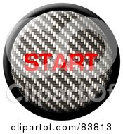 Royalty Free RF Clipart Illustration Of A Start Carbon Fiber Internet Button On White by Arena Creative