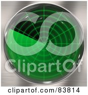 Royalty Free RF Clipart Illustration Of A Green Radar Screen On Chrome