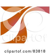 Royalty Free RF Clipart Illustration Of Three Orange Swooshes Over White by Arena Creative