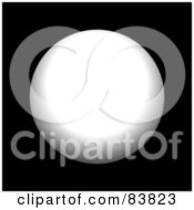 Royalty Free RF Clipart Illustration Of A White Circle Sphere On Black by Arena Creative