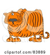 Royalty Free RF Clipart Illustration Of A Confused Tiger Looking At The Viewer by djart