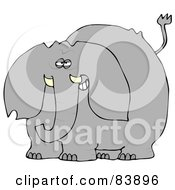 Royalty Free RF Clipart Illustration Of A Gray Elephant Smiling by djart