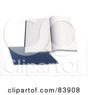 Royalty Free RF Clipart Illustration Of A Blank 3d Hovering Book Over A Shadow Version 3 by Mopic