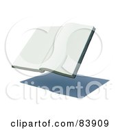 Royalty Free RF Clipart Illustration Of A Blank 3d Hovering Book Over A Shadow Version 1 by Mopic