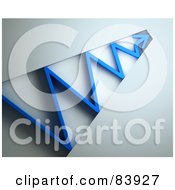 Royalty Free RF Clipart Illustration Of A 3d Blue Arrow Bouncing Through A Tunnel
