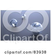 Royalty Free RF Clipart Illustration Of Three 3d Glass Marbles On Gray