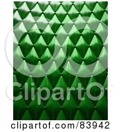 Royalty Free RF Clipart Illustration Of A 3d Textured Background Of Green Upholstery