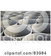 Royalty Free RF Clipart Illustration Of A 3d Background Of White Tubes by Mopic