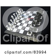 Royalty Free RF Clipart Illustration Of A 3d Chess Board With Strategic Moves Planned by Mopic