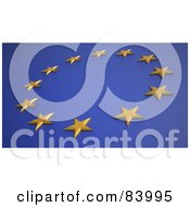 Royalty Free RF Clipart Illustration Of A Circle Of European Stars On Blue by Mopic