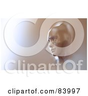 Royalty Free RF Clipart Illustration Of A 3d Female Face Emerging From A Wall by Mopic