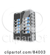 Royalty Free RF Clipart Illustration Of Two 3d Server Racks