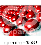 Royalty Free RF Clipart Illustration Of An Abstract 3d Background Of Red Bubbles