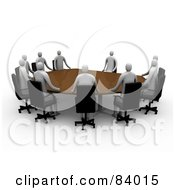 Group Of 3d People Holding A Meeting