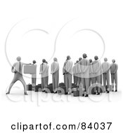 Royalty Free RF Clipart Illustration Of A 3d Martial Arts Business Team Learning