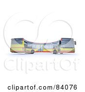 Royalty Free RF Clipart Illustration Of A 3d Curving City Bus
