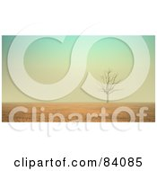 Royalty Free RF Clipart Illustration Of A 3d Bare Tree In The Cracking Desert by Mopic