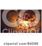 Royalty Free RF Clipart Illustration Of A 3d Background Of A Messy Explosion by Mopic
